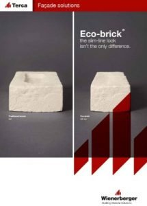 Eco-brick - The slim-line look inst the only difference Terca Bricks Catalogue Cover Page